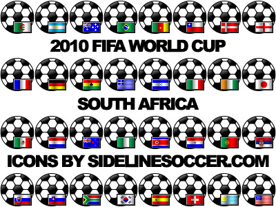 2010 World Cup Flag Icons