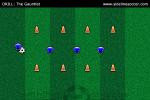 Gauntlet Soccer Drill