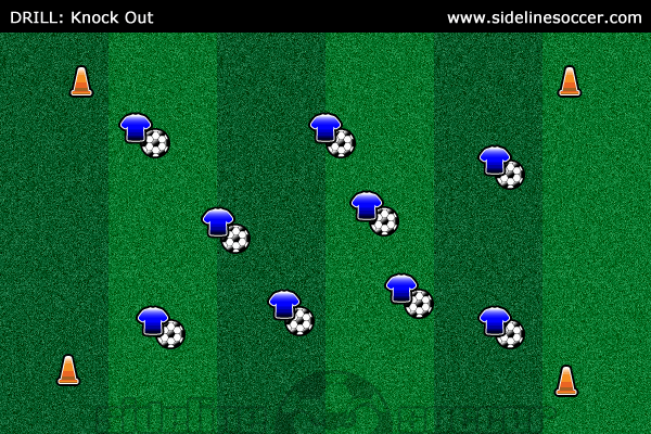 Knock Out Soccer Diagram