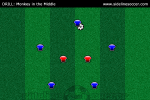 Monkey in the Middle Soccer Drill