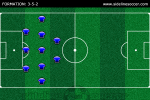 Soccer Formation 3-5-2
