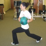 Walking Lunges with Rotation