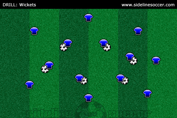 Wickets Soccer Drill